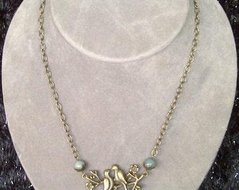 Brass Lovebirds Necklace