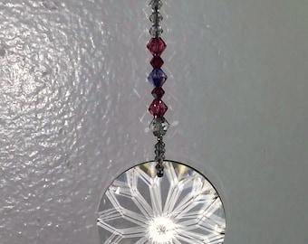 Swarovski Crystal Suncatcher Sun Catcher The Dahlia