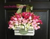 spring wreath summer wreaths tulips wreaths for front door decorations yellow front door wreaths floral arrangement