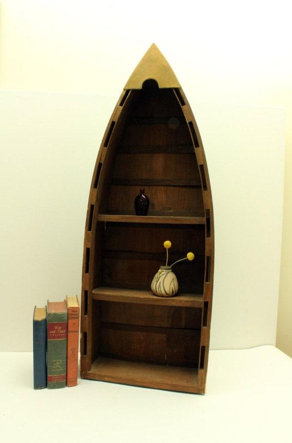 vintage boat bookcase shelving unit boat display case