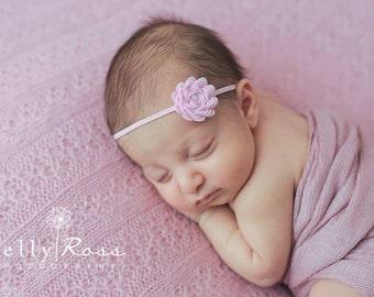 FREE SHIPPING! Pink Flower Headband, Newborn Headband, Baby Girl Flower Headband, Photography Prop