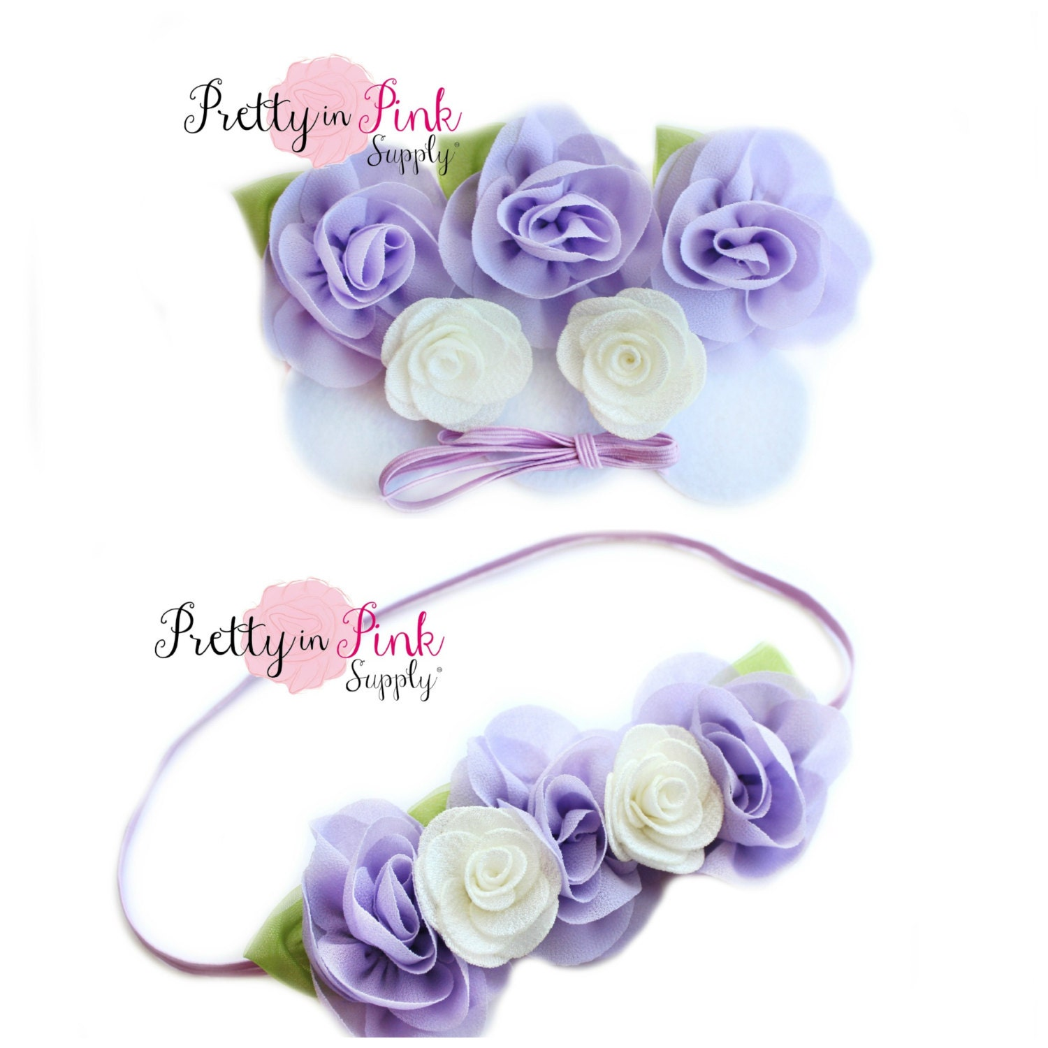 Lavender Baby Flower Crown DIY Headband Kit 94 Baby Headband