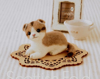 Miniature Scottish Fold Ear Cat Needle Felting Kit