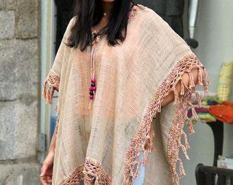 Wonderful Cotton Handmade Poncho