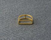 Geometric Gold Vermeil Ring