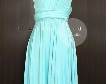 Sky Blue Bridesmaid Dress Convertible Dress Infinity Dress Multiway Dress Twist Wrap Dress Wedding Dress Prom Dress Cocktail Dress