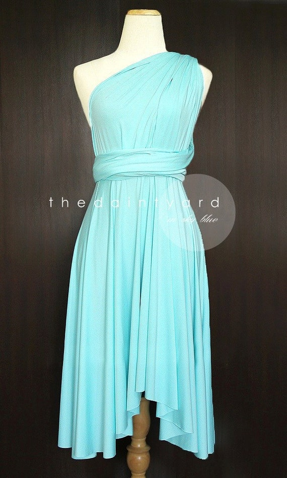 Sky blue bridesmaid dress convertible dress infinity dress for Sky blue wedding guest dresses