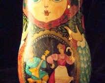 Vintage Russian Handpainted Nevalyashka-Roly Poly Doll Chime Bell Musical Signed 1992 - il_214x170.759623250_1r0y