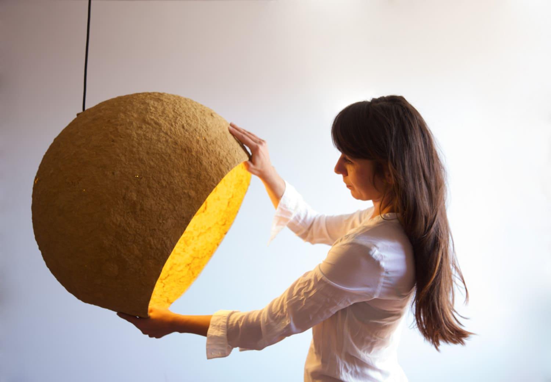 lampe de papier m ch jupiter luminaire suspendu lumi re. Black Bedroom Furniture Sets. Home Design Ideas
