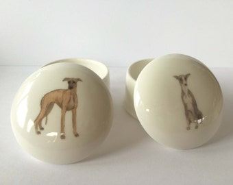Small Whippet Trinket Box