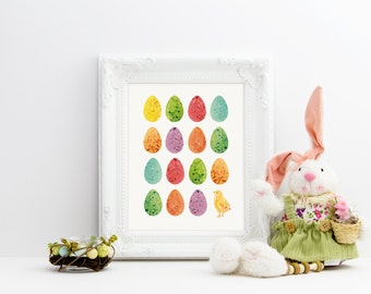 Easter eggs and chick- 8 x 10 Printable File