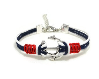 Anchor Bracelet, Anchor Jewelry, Nautical Bracelet, Anchor Jewellery, Navy Bracelet, Beach Bracelet, Unisex Bracelet, For Her, For Him