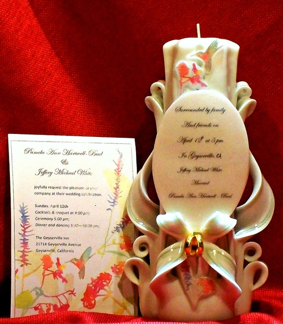 Candlelight Wedding Invitations: Items Similar To Wedding Gift Invitation Candle
