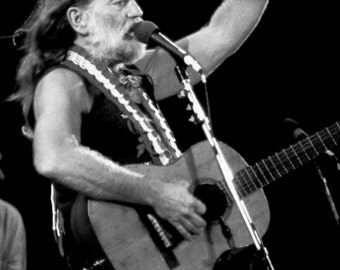 Willie Nelson Poster, Country Rock Musician, Live in Concert, Singer, Songwriter