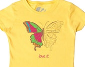 BIOLOGY, Girls science t-shirt, Butterfly Love,