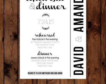 Laurel Rehearsal Dinner Invitation Printable