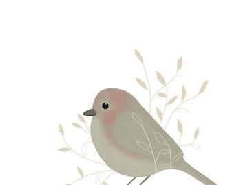 Printable art | Nursery art | Instant download | Printable bird illustration | Kid's wall art | Digital print