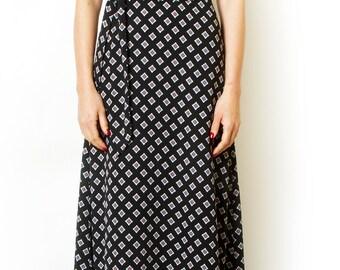 Print Maxi Dress Boho Chic Summer Dresses Summer day dress Geometric Belted Long Dress