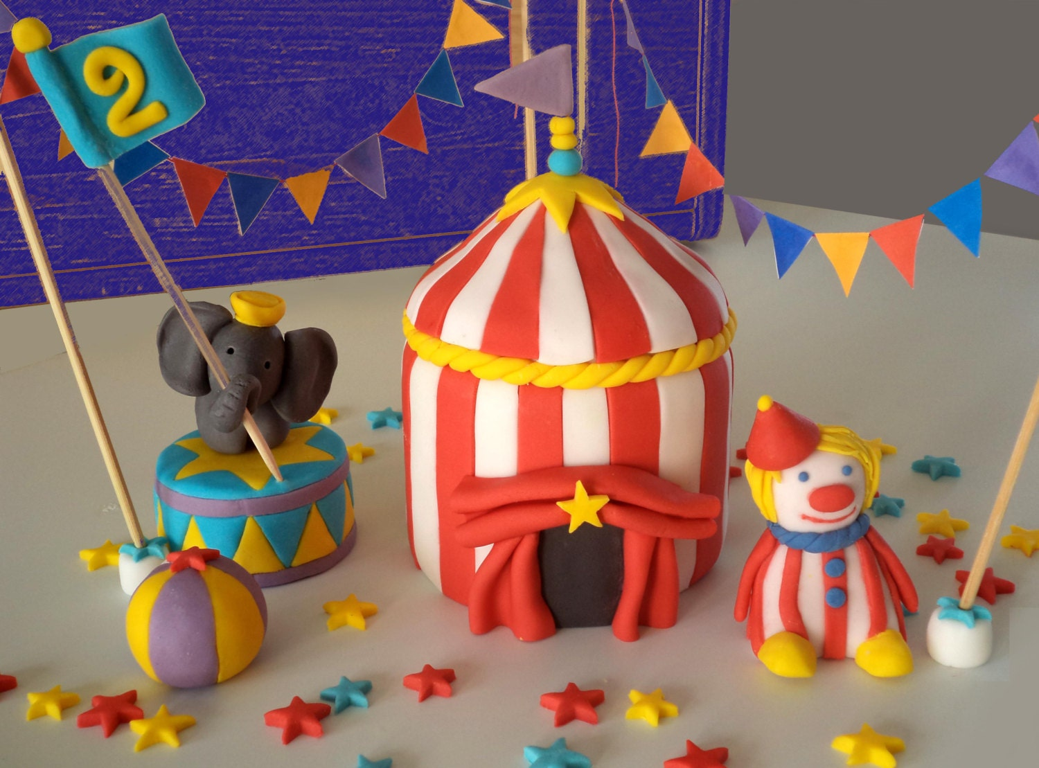 Plastic Circus Cake Toppers