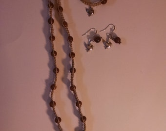Hemp Jewelry Set- Birds
