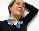 """Petal necklace """"Multicoloured petals"""""""