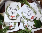 "Printable Woodland ""Thank You"" Note & Postcard Set - Digital"
