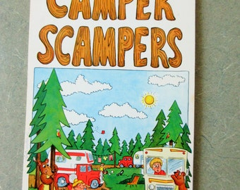 Vintage Stationery, Camper Scampers, Kitschy Stationery, 1970s Notes, Note Pad, Vintage Paper, Seventies Funny Notes, 1970s Stationery