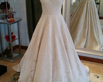 Lace Halter A-Line Wedding Dress - Sample Sale