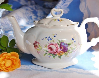 Vintage English Teapot, Multifloral, England