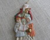 Santa Christmas Ornament, Ardco, Made in Taiwan, Vintage Ornament, Ceramic Ornament, Old World Santa, Santa Collector, Decor MyVintageTable