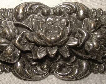 Edwardian Antique SP SASH PIN with Flower c1900-10