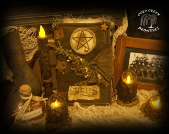 Witches Spell Book Halloween Decor Book of Spells