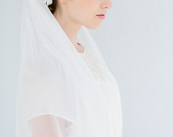Bridal wedding veil elbow length  - Emma