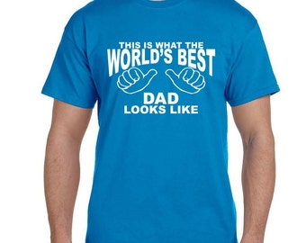 Gifts for Dad Christmas Gift Best Dad shirt t-shirt WORLD'S BEST DAD TShirt Fathers Day Gifts for Dad, Greatest Dad shirt