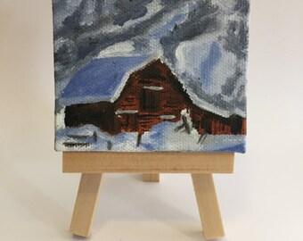 Custom Miniature Oil Landscape Painting