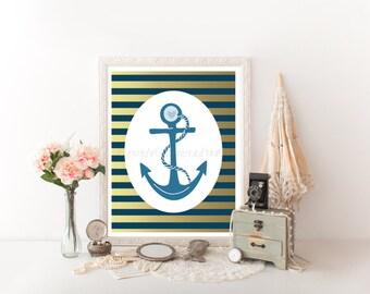 Anchor Decor, Anchor Printable, Anchor Decoration, Nautical Printable, Anchor Decor, Nautical Decor, Anchor Digital Download, Anchor 0172