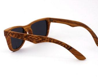 Kosso Wood Sunglasses Wayfarer Wooden Polarized Eyewear for Man Woman WOODEER