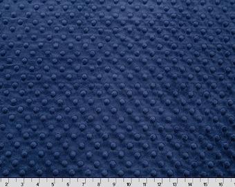 One Yard Navy Blue Minky Cuddle Fabric by Shannon Fabrics