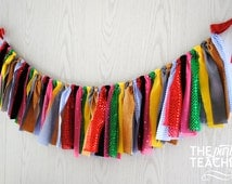 Wizard of Oz Fabric Bunting - Wizard of Oz Fabric Garland Wizard of Oz Rag Garland - All Characters + 10% off Party Supplies Coupon
