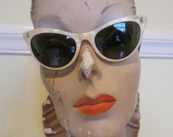 Dolce Vita Vintage 1950s 50s Sunglasses Catseyes Butterfly Shape -Rockabilly-Pinup-Bombshell-Vixen-Starlet-French Riviera-Brigitte Bardot-