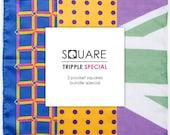 Special: Three Pocket Squares Bundle Special