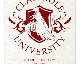 Classhole University [ Print ] - by Denis Caron - Corvink