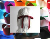 "HAIR RIBBON-7/8"" Grosgrain Hair Ribbons (36"" Long)-Hair Bows, Women's Hair Ribbons, Girl's Hair Ribbons, Hair Accessories, Bad Hair Days"
