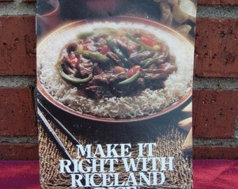 Vintage Cook Book Make It Right With Riceland