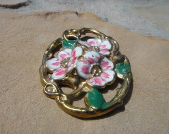 Big Large Bold Statement Piece Flower Floral Brooch Pendant Pin