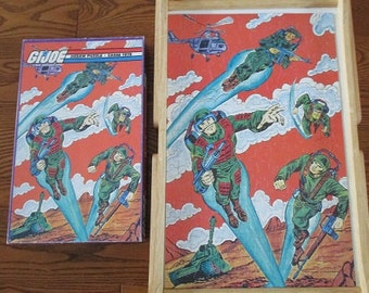 "Vintage G. I. Joe Jigsaw PUZZLE - A Real American Hero - 200 Pieces - 11"" x 17"" - 1982 Hasbro Inc."