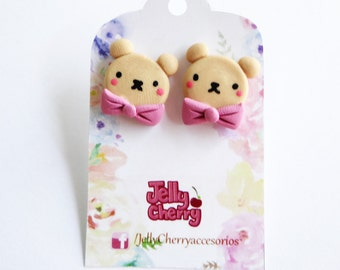 Mr. Teddy bear earrings