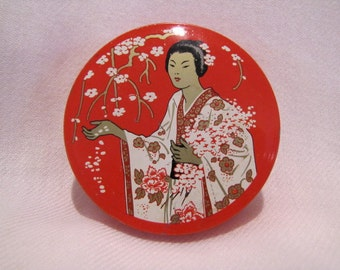 Madame Butterfly Tin for Smith Corona  Pure Silk Typewriter Ribbon