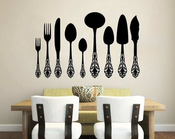 wand aufkleber vinyl aufkleber decals messer von trendywalldecals. Black Bedroom Furniture Sets. Home Design Ideas