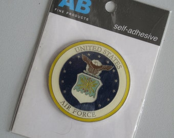 Enameled Metal Embellishment! New in Package! Amanda Blu Fine Products! Papercrafting! Mixed Media! US Air Force!